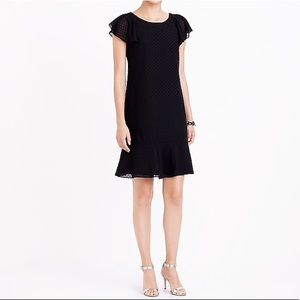 J. Crew Ruffle Sleeve Flounce Textured Dress